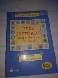 Livro tres historias do povo das terras do brasil