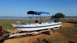 Barco alumínio 6 mts com carreta e motor