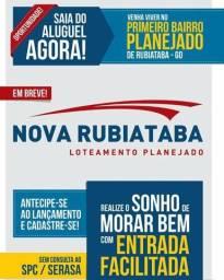 Nova Rubiataba Loteamento Planejado - Lançamento - Lotes à Prestações - Rubiataba-GO