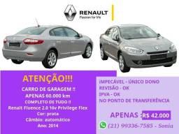 Fluence Renault Privilege Automatico 2014 teto solar - 2014