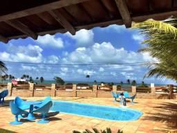 Casa de temporada na praia em Muriú
