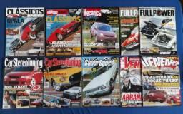 Revistas 100% Veneno - Full Power - Quatro Rodas e Etc (lote de 10)