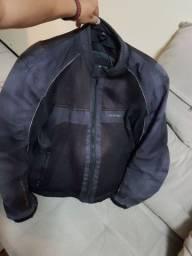 Jaqueta para motociclista + capa para chuva