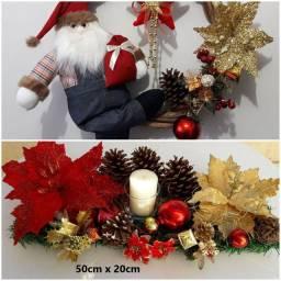 Kit natal luxo guirlanda + centro de mesa decorado igual a foto um luxo