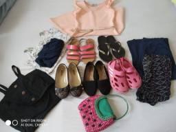 Lote roupa/ calçados menina 8