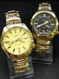 Relógio Dourado Atlantis Edifice Original