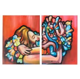 O amor floresce - Quadro à óleo original