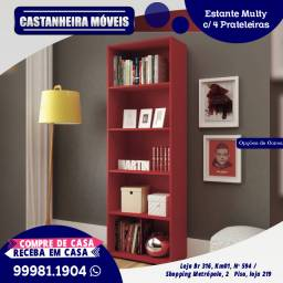 Estante Multy c/ 4 prateleiras, opções de cores, R$ 499,00 10x de R$ 49,90, sem Juros!!!