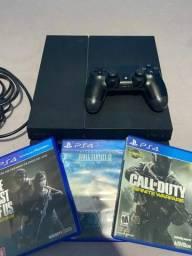 Título do anúncio: Console Playstation 4 fat 500gb com 3 jogos