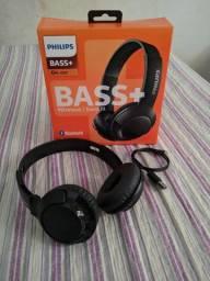 Fone Bluetooth Philips Bass+ Shb3075