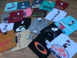 Muitas opções de Camisetas R$ 28,00 cada, à vista