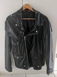 Jaqueta de couro sintético Zara original courino (unissex XXL)