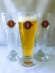 Jogo C 4 Tulipas Cerveja Devassa Chopp 300 Ml Kit Copo Luxo