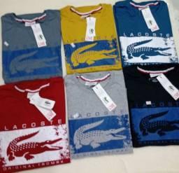 Camisas no atacado apartir de 20 peças sai de 16 Reais.