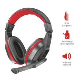 Título do anúncio: [Novo] Headset Gaming Ziva Preto e Vermelho Trust