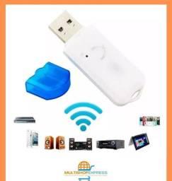 Adaptador Receptor de Áudio Bluetooth USB Som Automotivo Residencial