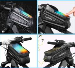 Bolsa de Celular Para Quadro Bicicleta Impermeável