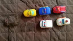 5 carros disney pixar car Plastico  mc queem mattel
