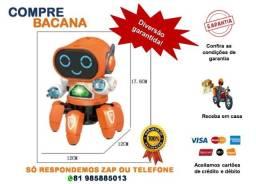 Robô de brinquedo Dançando Som/Led Br