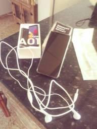 Vendo smartphone Samsung A 01 novo na caixa ou troco por outro aparelho