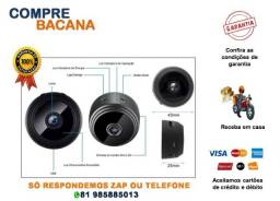 Mini Câmera Espiã Wifi Visão Noturna Ip 1080p 2hs Bateria