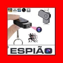 Título do anúncio: Leia a Descrição /Pendrive Espião c/ Câmera Filma C/ áudio /Bateria/pega Micro-SD