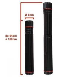Título do anúncio: Tubo Telescópico Plástico Extensível 64-100cm Diâmetro 8cm Preto/Vermelho
