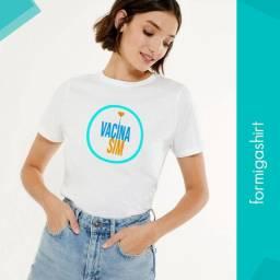 Camisa vacina sim coronavac campanha globo