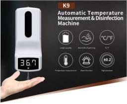 Termômetro Com Dispensador De Álcool Em Gel - K9