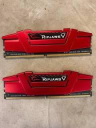 Título do anúncio: Memória Ram G.Skill Ripjaws V DDR4 3000mhz 16gb(8x2)