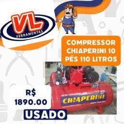 Compressor Chiaperini 10 pés 110 litros ?