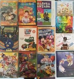 Diversos títulos Infantis em DVDs - o valor do anúncio é o lote