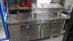 198-Balcão condimentadora refrigerada - Fabricado por Inovare Inox