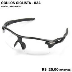 Óculos de Ciclismo 34 (Transparente com Armação Preta)