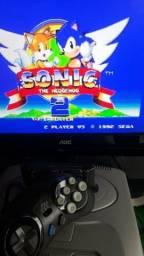 Promoção:Mega Drive com 43 Jogos + Cartucho Original Sonic 2 Conforme as Fotos comprar usado  São Paulo