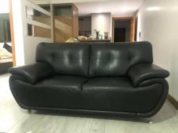 Sofá couro preto