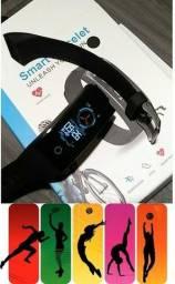 Relógio Monitor de Atividades Prova D'Água Batimento Cardíaco Pressão Arterial