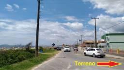 Terreno 2 quadras da praia, 100 metros do asfalto, residencial, região bem habitada