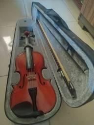 Esse valor só por hoje! Violino 4/4 Michael Vnm40 e Arco+ Estojo grátis