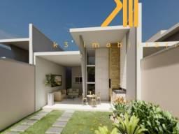 Casa em Eusébio-CE, 3 quartos sendo 1 suíte, Banheiro social, Garagem para 3 carros, Porce