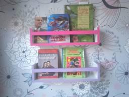 Kit 2 Prateleiras para Livros e Revistas 50cm