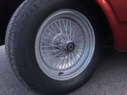 Rodas raiadas mangels aro 14 para opala e outros carros 5 furacão