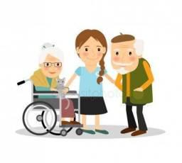 Sou cuidadora de idosos