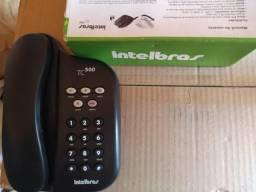 Vendo telefone TC500 preto intelbras