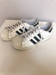 Tênis adidas superstar branco usado
