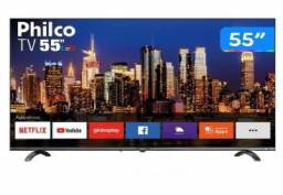 Smart TV 4K Uhd -Led 55? Philco PTV55Q20SNBL - Wi-Fi HDR 3 HDMI 2 USB