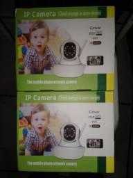 Câmera de segurança domiciliar ou comercial, sem fio.
