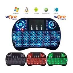 Mini Teclado Led Controle Sem Fio Touch Pc/notebook/smart/gamer