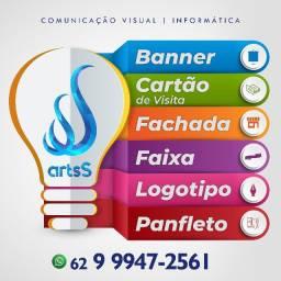 Gráfica artsS Comunicação Visual - Banner, Cartão de Visita, Panfleto, Fachada e Adesivos