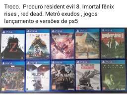 Título do anúncio: Troco por jogos de PS4 e ps5